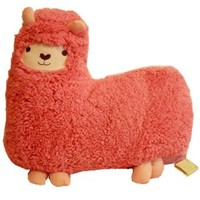 Bolster Toy Aunt Merry Mokomoko Llama Alpaca Hug Pillow Cushion Doll (1 per pack, Pink)