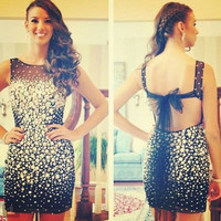 Black Homecoming Dress,Short Backless Homecoming Dresses