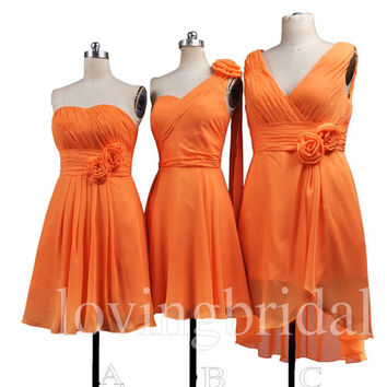 2014 Burnt Orange Mint Coral Bridesmaid From Lovingbridal