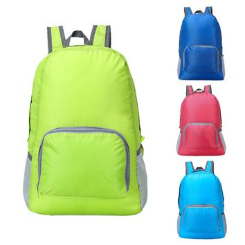 Foldable Backpack Waterproof Nylon Lightweight Sports Bags Women Men Children Skin Pack Travel Camping Hiking Bag Rucksack