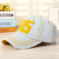 Retro Light Blus Denim Baseball Cap Hot Summer Gift 41