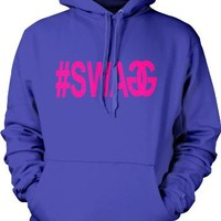 #SWAGG Mens Sweatshirt, Hot Trendy Neon Swag Pullover Hoodie, XX-Large, Royal