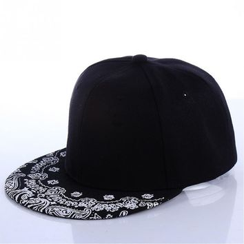 Trendy Winter Jacket Newest Unisex Paisley Adult Snapback Hiphop Hat Adjustable Baseball Cap AT_92_12