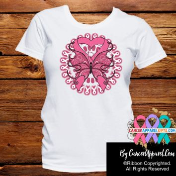 Breast Cancer Stunning Butterfly Shirts