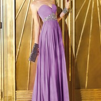 Ruched Chiffon Gown by Alyce Prom