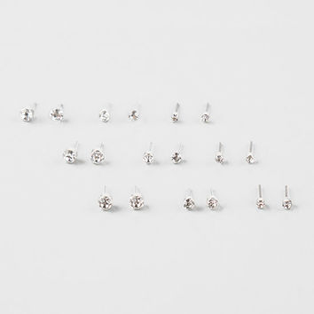 FULL TILT 9 Pairs Rhinestone Earrings | Earrings
