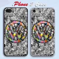 VW Sticker Bomb JDM Illest Stance Hellaflush Eat Sleep Custom iPhone 5 Case Cover