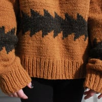 vintage Burnt Orange and Chocolate Brown Wool by vicethighvintage