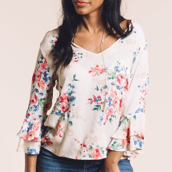 Songs of Spring Top in Off White