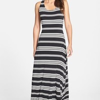Women's Ivanka Trump Racerback Stripe Jersey Maxi Dress,