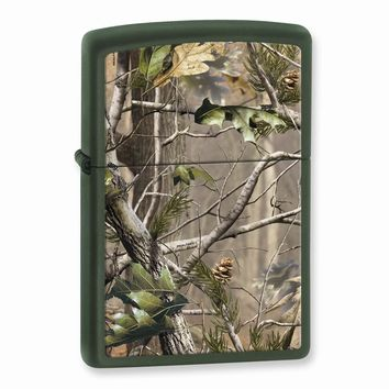 Zippo Realtree APG Green Matte Lighter - Engravable Personalized Gift Item