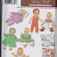 Pattern: Baby Doll Clothes Simplicity Archives 4707