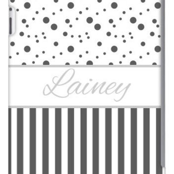 Polka Dot Stripe Personalized iPad 2, 3 & Retina Slim Case