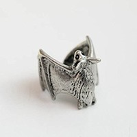 Silver Vampire bat Ring,animal Ring,12R-00081
