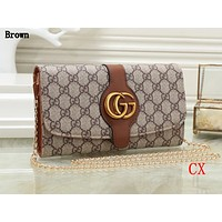 Gucci Fashion Lady Colour Printed Single Shoulder Bag Shopping Bag Brown