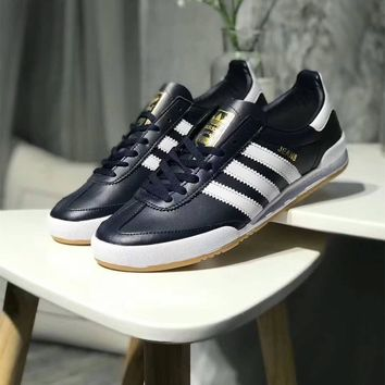 Adidas Jeans MKII Men Fashion Multicolor Stripe Leather Surface Retro Casual Plate Shoes Sneakers