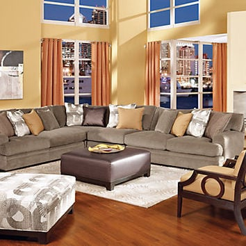 Cindy Crawford Home Fontaine 5 Pc Sectional Living Room
