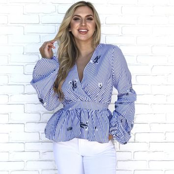 Come Sail Away Stripe Blouse