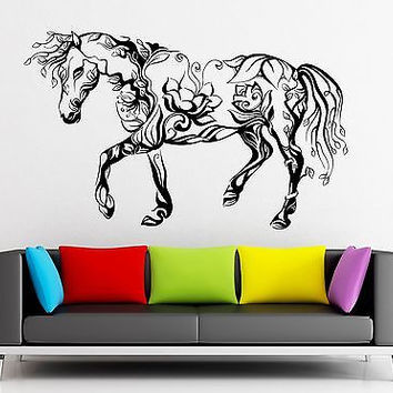 Wall Sticker Vinyl Decal Horse Animal Beautiful Abstract Decor Room (ig2189)