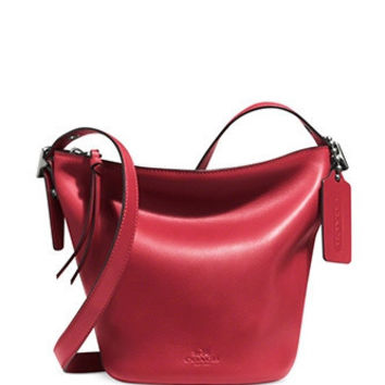 Coach Mini Bleecker Duffle Bag In Smooth Glove Tanned Leather