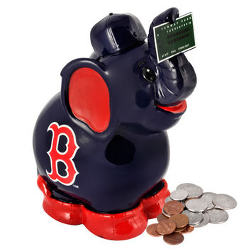 Boston Red Sox MLB Thematic Elephant Coin Bank