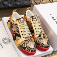 Versace   Man Fashion Casual Shoes Men Fashion Boots fashionable Casual leather Breathable Sneakers