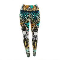 "Mandie Manzano ""Mermaid Twins"" Yoga Leggings"