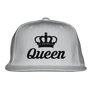 Queen Embroidered Snapback Hat