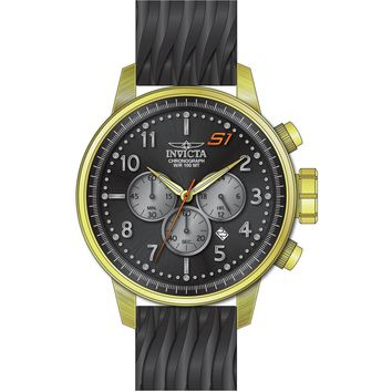 Invicta Men's 23816 S1 Rally Quartz Chronograph Black, Grey Dial Watch