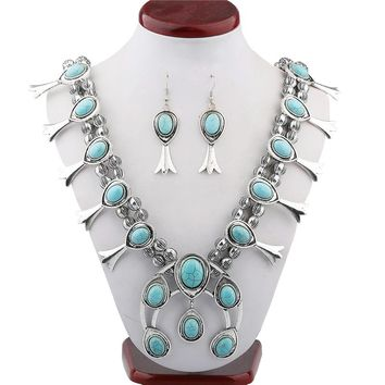 European selling Vintage Synthetic stone Necklace pattern beaded necklaces
