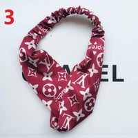 GUCCI Headwrap Print LV Headband Warmer Head Hair Band B104521-1 Red