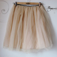 Tulle skirt (beige colour)