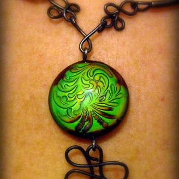 Color-Changing Mood Pendant Necklace--One of a Kind Multi-Colored Statement Jewelry