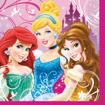 Disney Princess Luncheon Napkins [16 per pack]