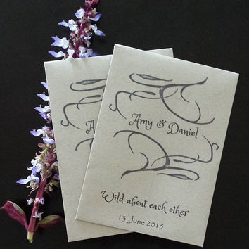 25 Wedding/Bridal Shower Seed Packet favors - Wild about each other