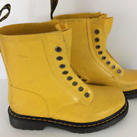 Dr Martens Yellow Patent  Leather Boots  US 7