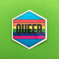 Queer Rainbow Vinyl Sticker With Rainbow Design
