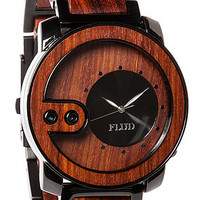 The Exchange Watch in Red Wood