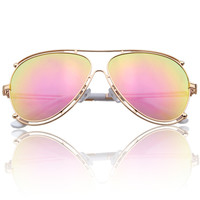 Vintage Metal Mirror Sunglasses [4915038340]