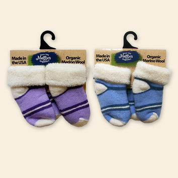 Organic Wool Baby Socks - Toddler size (Set of 2)