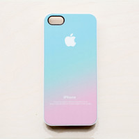 Pastel iPhone 5 Case iPhone 4 4S New Apple Logo Pink Aqua Teal Pastel Ombre