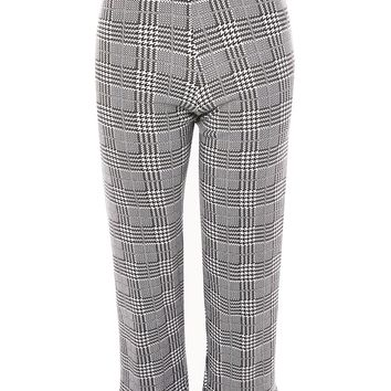 PETITE Checked Frill Ponte Trousers   Topshop