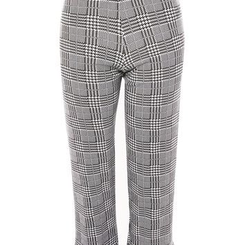 PETITE Checked Frill Ponte Trousers | Topshop