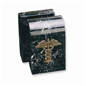Medical Emblem Marble Bookends