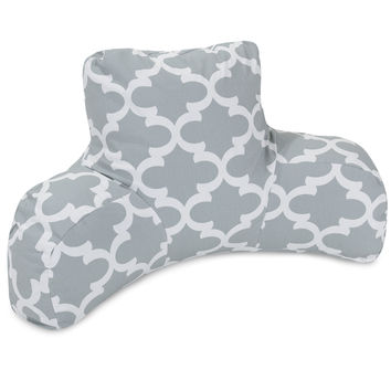 Gray Trellis Reading Pillow