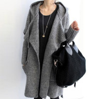 Thick sweater sweater coat autumn and winter women loose thick needle thick wool sweater