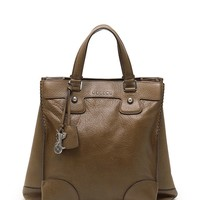 CELINE Orlov tote bag leather Khaki 2WAY
