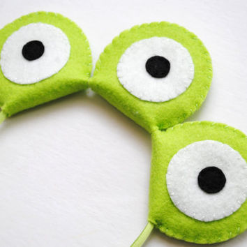 Wool Felt Alien Eyes Headband