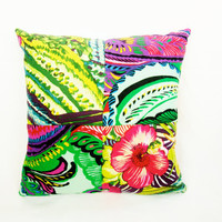 Frida Kahlo IMexican Flowers  Novelty throw Pillow