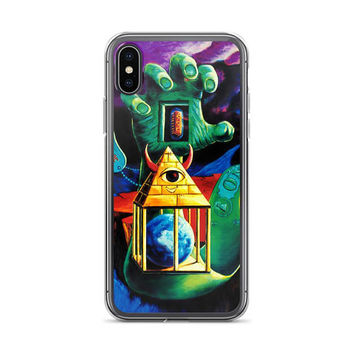 Trippy surreal ALL sizes iPhone Cases The Practical Deception by Vincent Monaco available for ALL iPhone models.